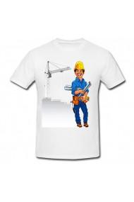 Tricou Constructor alb