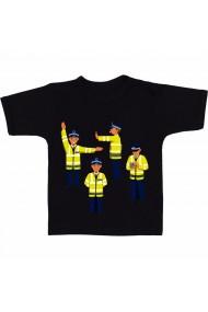 Tricou Traffic police vector negru
