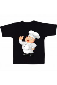 Tricou Fat chef cartoon negru