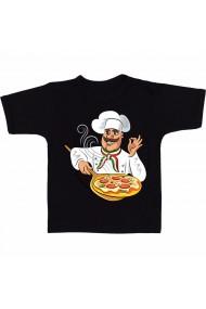 Tricou Chef pizza negru