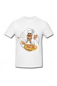 Tricou Chef pizza alb