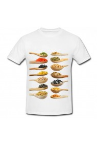 Tricou Legumes and grains alb