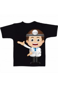 Tricou Icon doctor cartoon negru