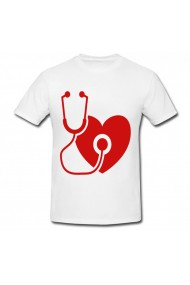 Tricou Happy doctors day poster alb