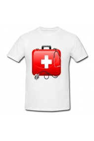 Tricou First aid kit alb
