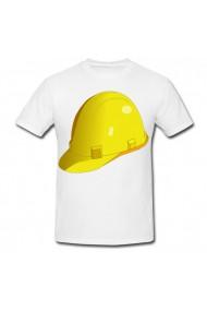 Tricou Hard hat alb