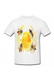 Tricou Bee labels template alb