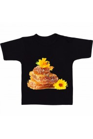 Tricou Products made from honey negru