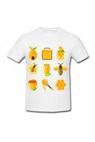 Tricou Honey hive vector alb