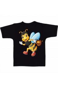 Tricou Honey bee cartoon negru