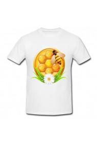 Tricou Honey bee egg alb