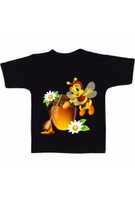 Tricou Cute bee cartoon negru