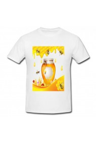 Tricou Honey and bees alb