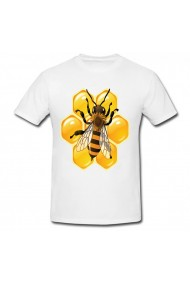 Tricou Bee and honey alb