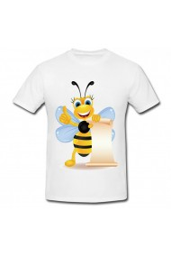 Tricou Bee alb