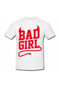 Tricou Bad girl alb