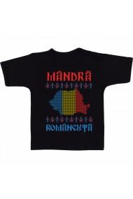 Tricou Mandra romancuta negru