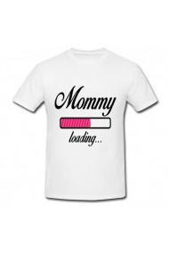 Tricou Mommy loading alb