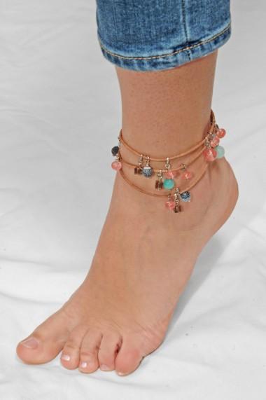 Bratara Ganelli multifunctionala mana, glezna, colier, piele si pietre semipretioase L01(B)