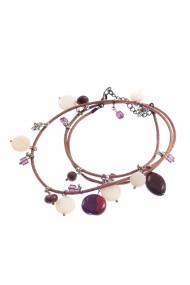 Bratara Ganelli multifunctionala mana, glezna, colier, piele si pietre semipretioase L01(G)