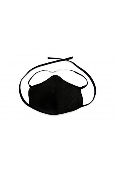Masca de protectie cu fixare, reutilizabila Alek Negru