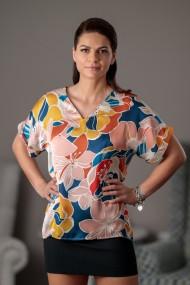 Bluza dama Giorgal multicolora lejera