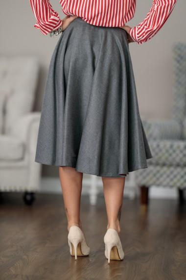 Fusta din lana gri, Giorgal, in A, Balencia