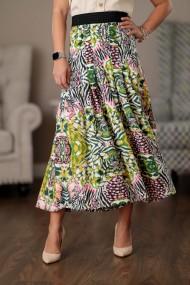 Pantaloni largi dama Giorgal culottes vaporosi multicolori