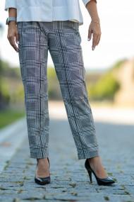 Pantaloni largi carouri alb-negru, Dejo