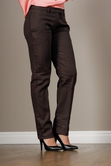 Pantaloni drepti dama office cu dungi, Eva