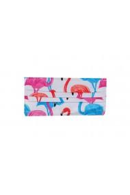 Masca adulti din bumbac dublat cu pasari flamingo