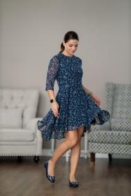 Rochie de zi, vaporoasa, bleumarin, Himeea