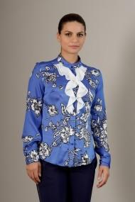 Camasa office albastra cu volanase, Irina