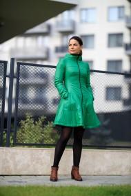 Jacheta verde Giorgal in clos, tip rochita
