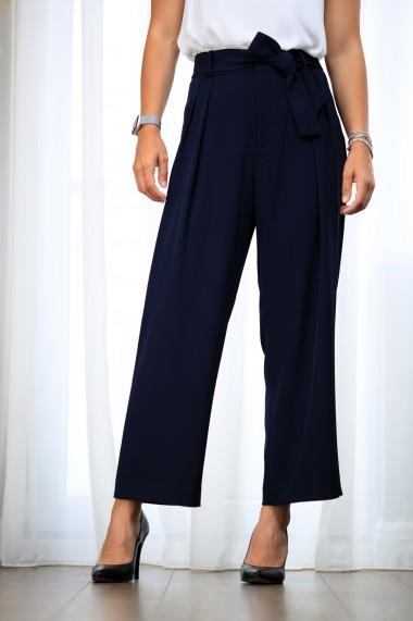 Pantalon dama, stil office, bleumarin