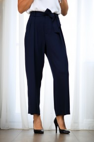 Pantalon dama, stil office, bleumarin