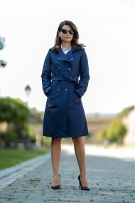 Trench office bleumarin, Verona Blue