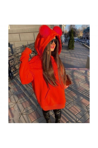 Hanorac oversize Rabbit Red