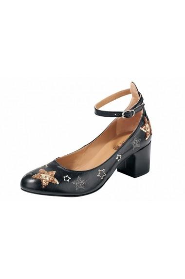 Pantofi Heine 052331 negru - els