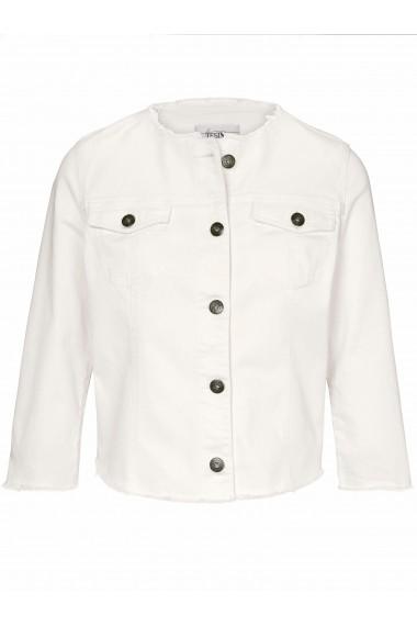 Jacheta din denim heine CASUAL 053258 Alb