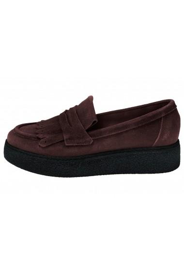 Pantofi Heine 076456 bordo