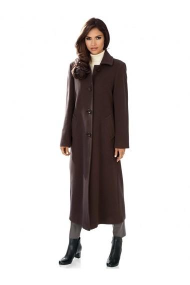 Palton heine TIMELESS 093013 maro-ciocolatiu