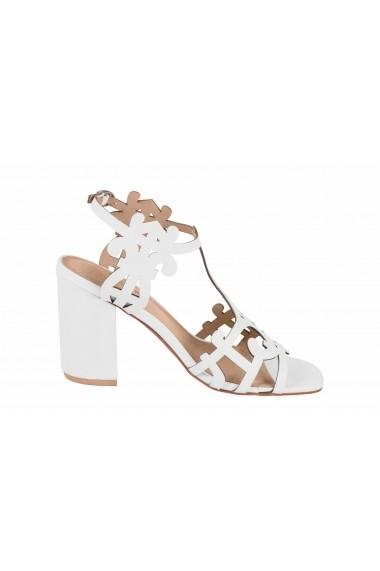 Sandale cu toc Heine 17877460 Alb - els