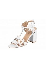 Sandale cu toc Heine 17877460 Alb