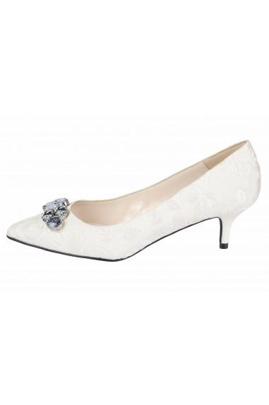 Pantofi cu toc Heine 70141345 Alb