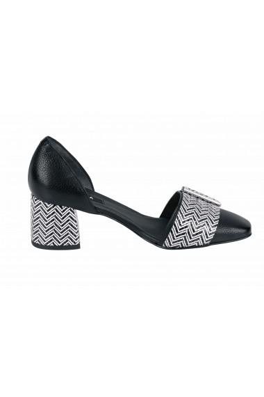 Pantofi cu toc cu toc ZINDA 89018405 negru
