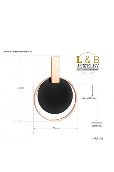 Cercei L&B Jewelry otel auriu roz elegant