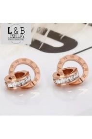 Cercei L&B Jewelry, Elegant Style otel auriu roz elegant
