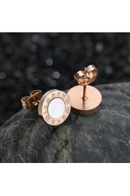 Cercei cu cifre romana Elegant Style Secret Wish Roze Gold