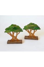 Decoratiune Handmade Copac cu suport de lemn Opaline Crafts